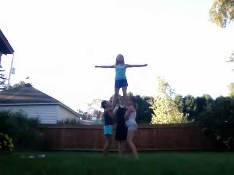 some easy cheer stunts(6th graders)