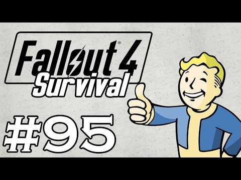 Let's Play Fallout 4 - [SURVIVAL - NO FAST TRAVEL] - Part 95 - Cambridge Crater