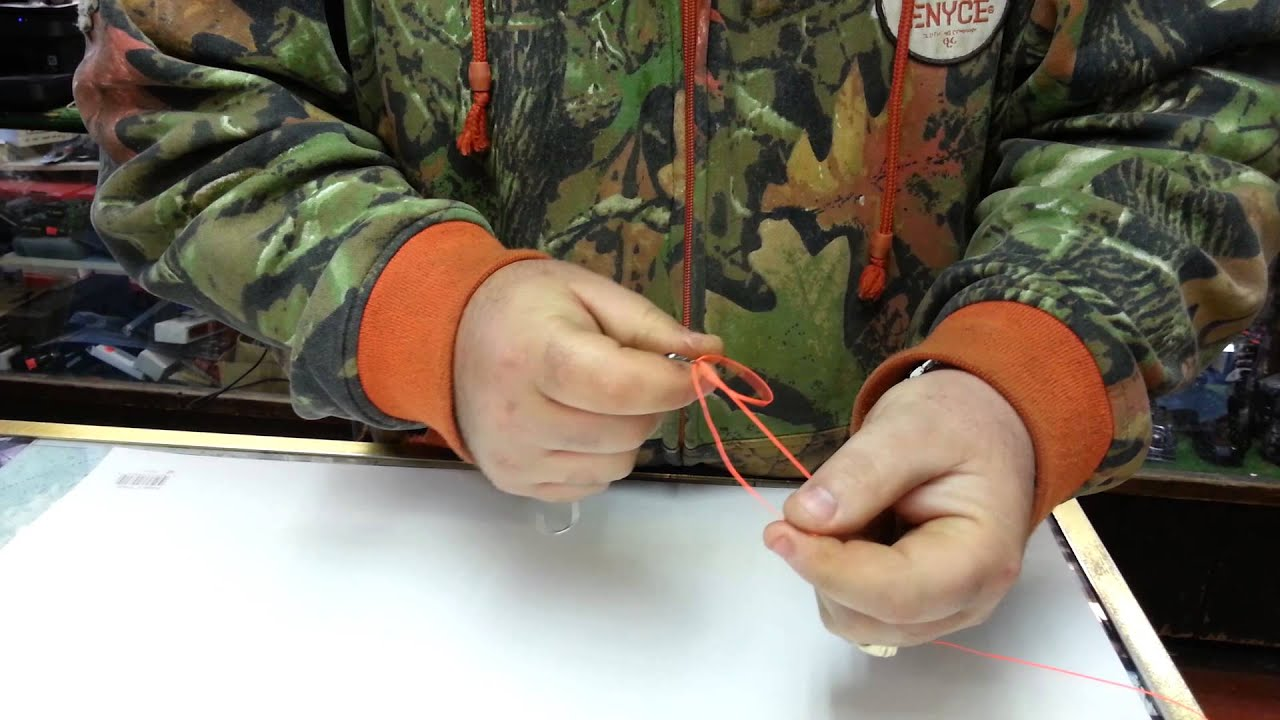 How To Tie A Fishing Lure Knot With Braided Fishing Line Youtube