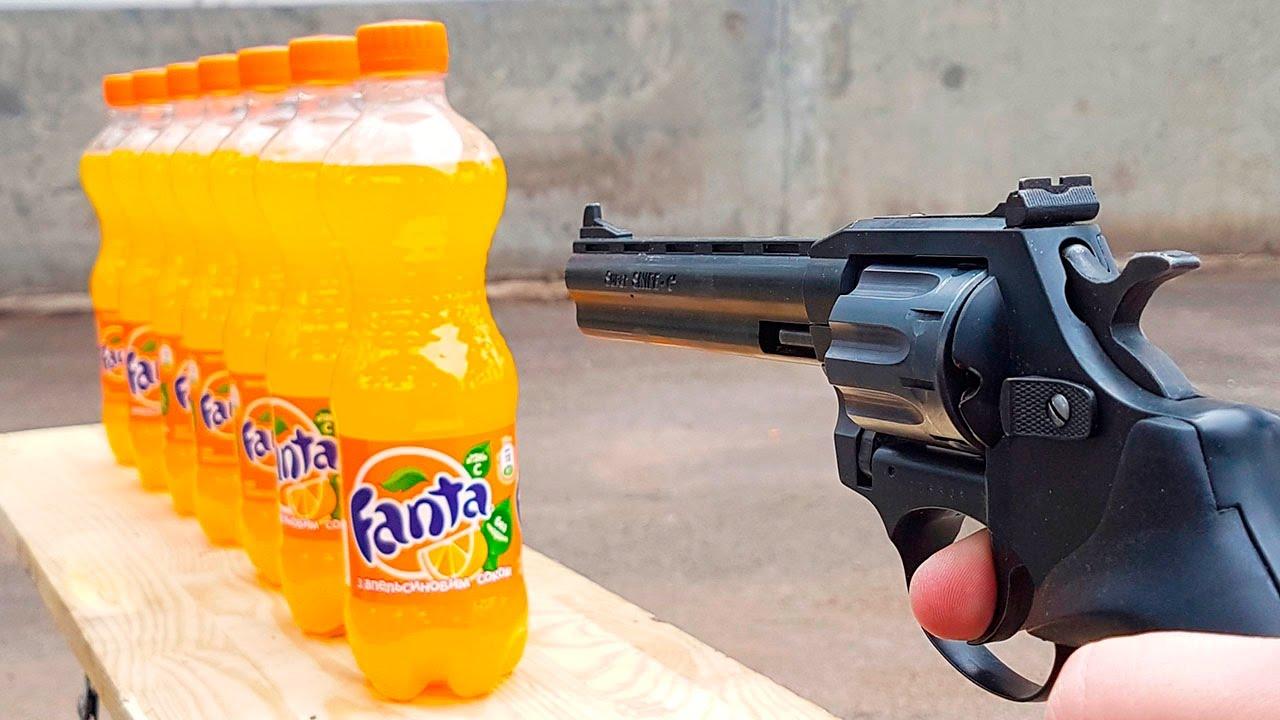 EXPERIMENT GUN vs Fanta YouTube