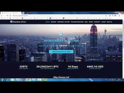 AuroraminerCloud New Free Bitcoin Mining Site ! 200 GH/s Welcome Bonus For Mining