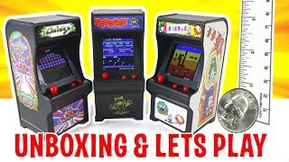 UNBOXING & LETS PLAY - TINY ARCADES - World