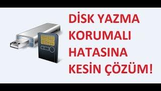 SD Kart ve Usb Disk Yazma Korumalı Hatası Nasıl Kaldırılır Kesin Çözüm
