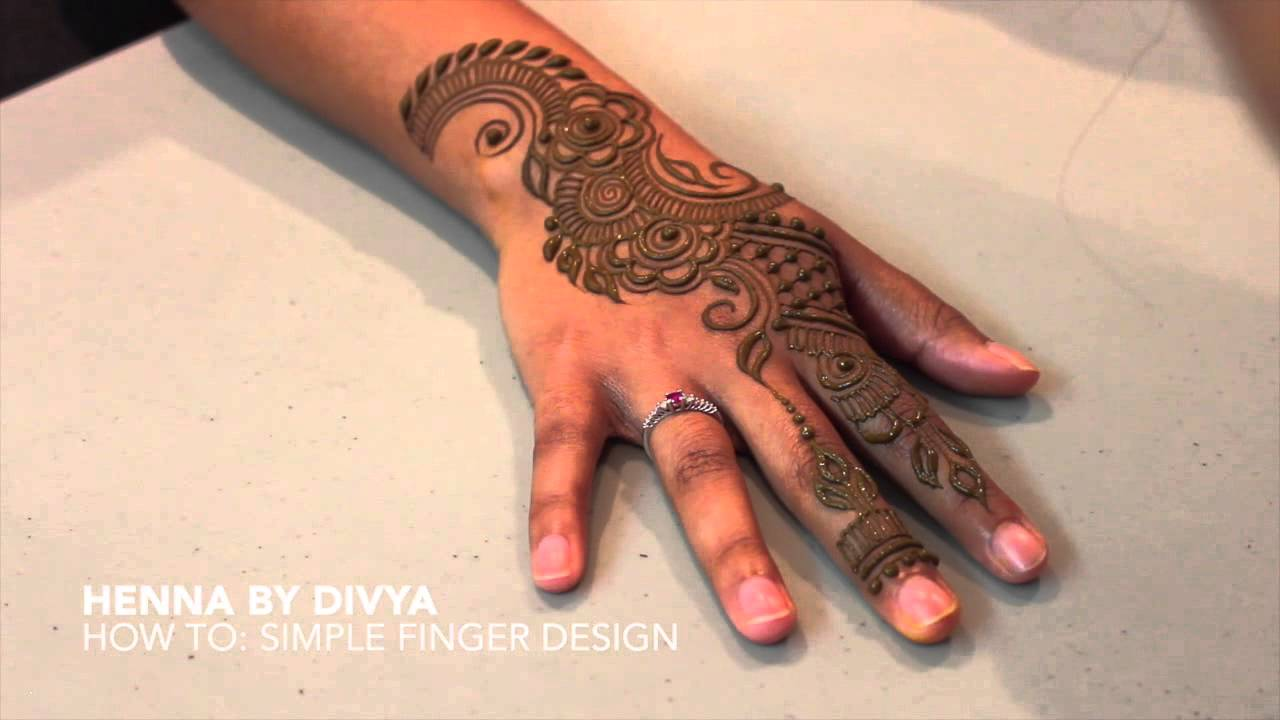 Henna By Divya How To Simple Finger Design Youtube