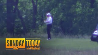 President Trump Returns To Golf Course For The First Time In 11 Weeks | Sunday TODAY