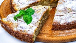 Самый быстрый и простой яблочный пирог. Простой рецепт на молоке!