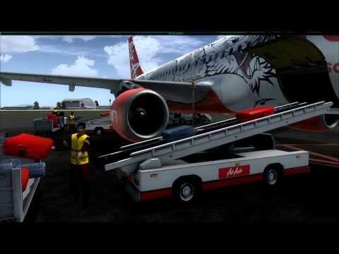 FSX HD AIR ASIA AIRBUS A320 KUCHING INTL (WBGG) TO KUALA LUMPUR (WMKK)