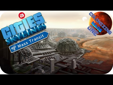 Cities Skylines Scenario: SURVIVING MARS COLONY!!! Cities Skylines Surviving Mars Station Beta #1