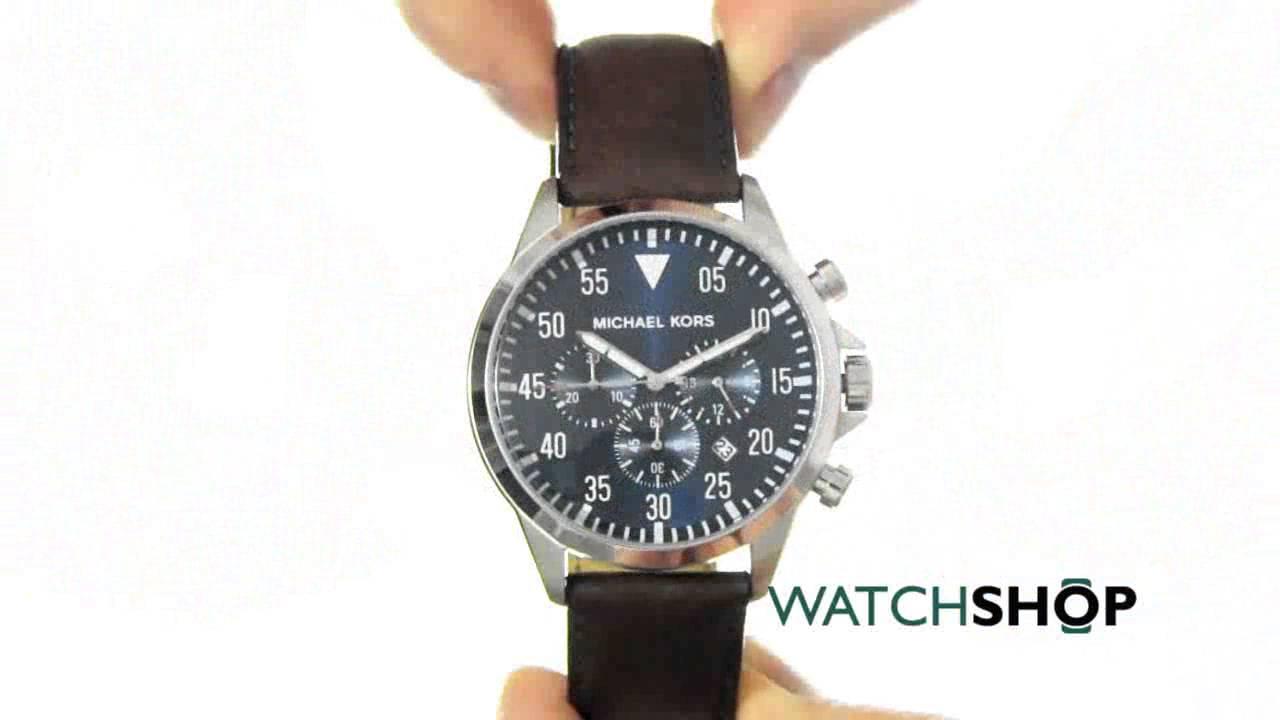 18f24ebbe Michael Kors Men's Gage Chronograph Watch (MK8362) - YouTube