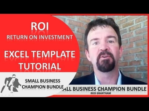 ROI Calculator Excel Template - Analysis Chart - What Is ROI