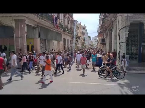 Protesters in Cuba express frustration amid economic crisis