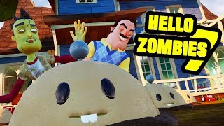 HELLO ZOMBIES 7 - Hello Neighbor Plants vs Zombies Mod
