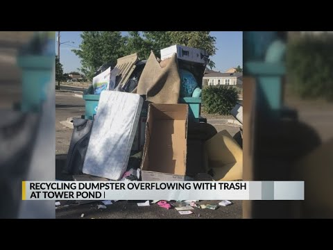 Park-goers Fed Up With People Dumping Trash At Recycling Drop-off Site