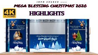 MEGA BLESSING CHRISTMAS 2020 HIGHLIGHTS / G.SAMSON RAJU. 4K