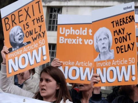 Britain Begins Article 50 Notice to Leave European Union