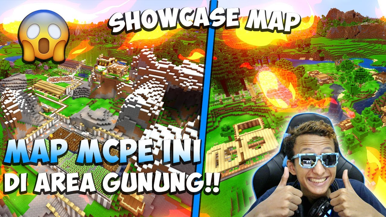 MAP MCPE INI DI AREA PEGUNUNGAN!!! - SHOWCASE MAP MINECRAFT INDONESIA