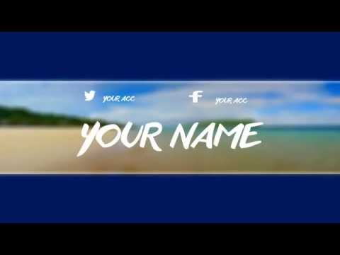 VLOG CHANNEL ART TEMPLATE (PHOTOSHOP) - YouTube - youtube banner template photoshop