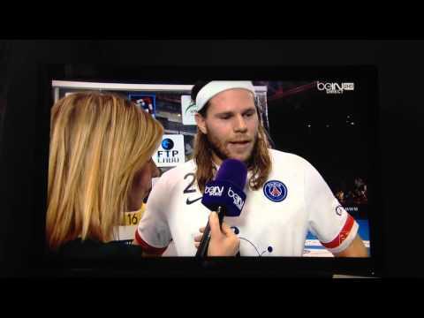 Interview de Mikkel Hansen lors du match Nîmes-PSG 17/02/2016