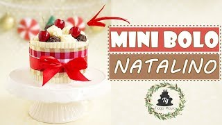 MINI BOLO NATALINO - CHOCOLATE COM COCO - ESPECIAL DE NATAL -Tiago Mauro