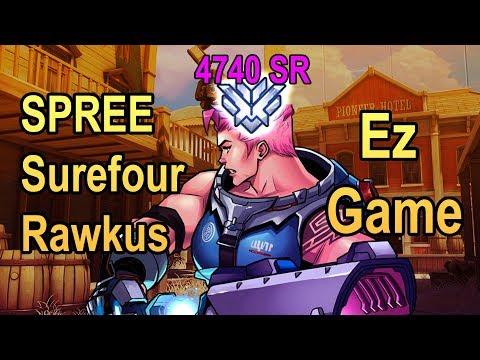 EZ GAMES IN RANKED - SPREE (4740 SR) + Surefour + Rawkus TRIO