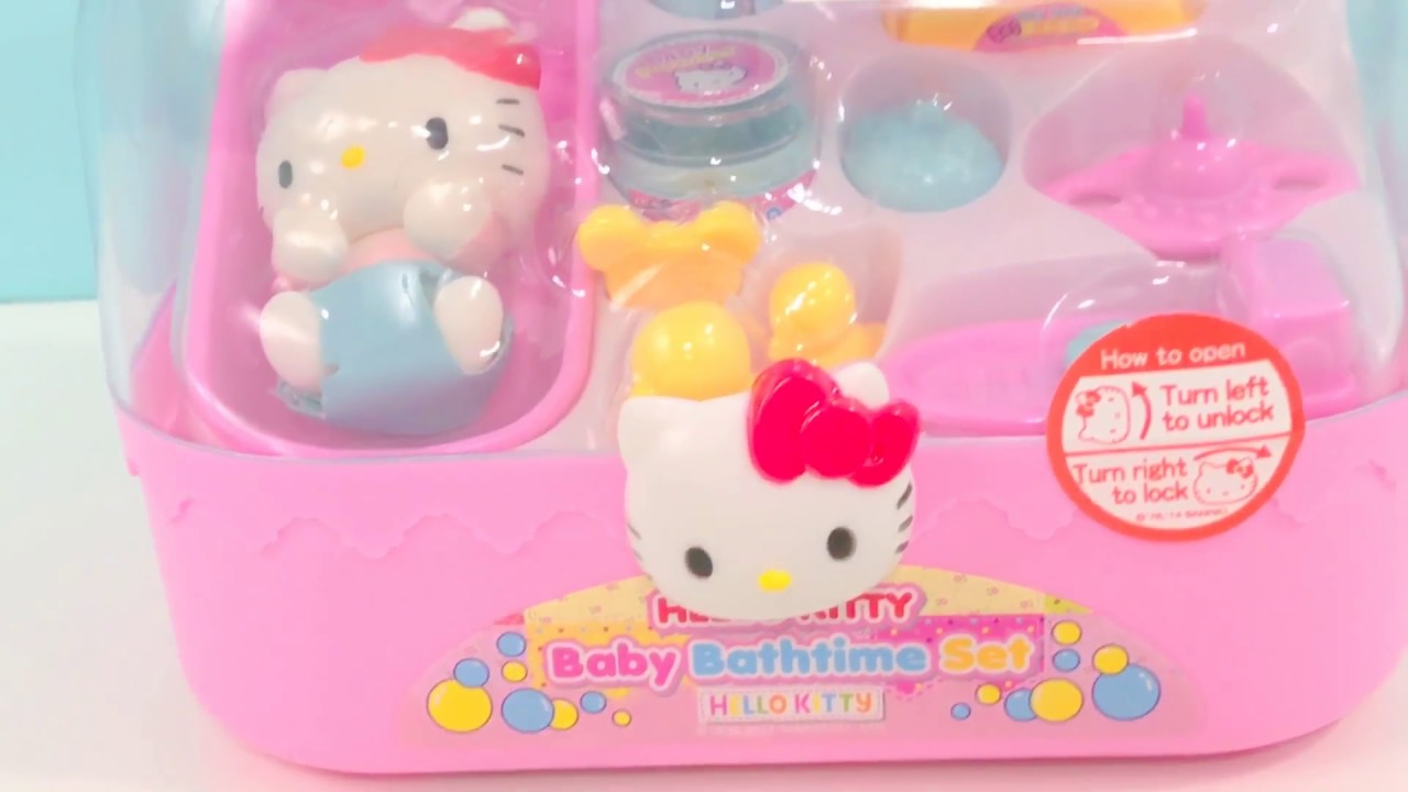 hello kitty baby bath time set with toys surprise itsplaytime612 youtube. Black Bedroom Furniture Sets. Home Design Ideas