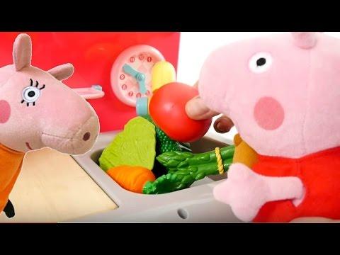 Cocuk Video - Peppa Pig Oyuncaklari - Peppa Mutfakta Annesine Yardim Ediyor