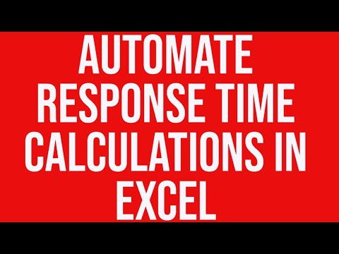 automate response time calculations in ms excel without a macro youtube. Black Bedroom Furniture Sets. Home Design Ideas