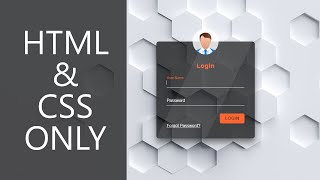 Transparent Login Form - HTML & CSS ONLY