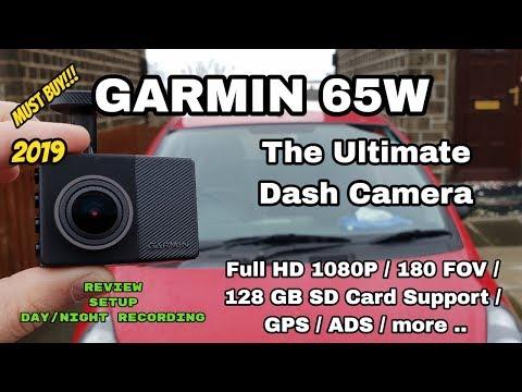 Garmin 65W Dashcam Has A 180º POV, Travelapse Videos, & Full HD Video More Features
