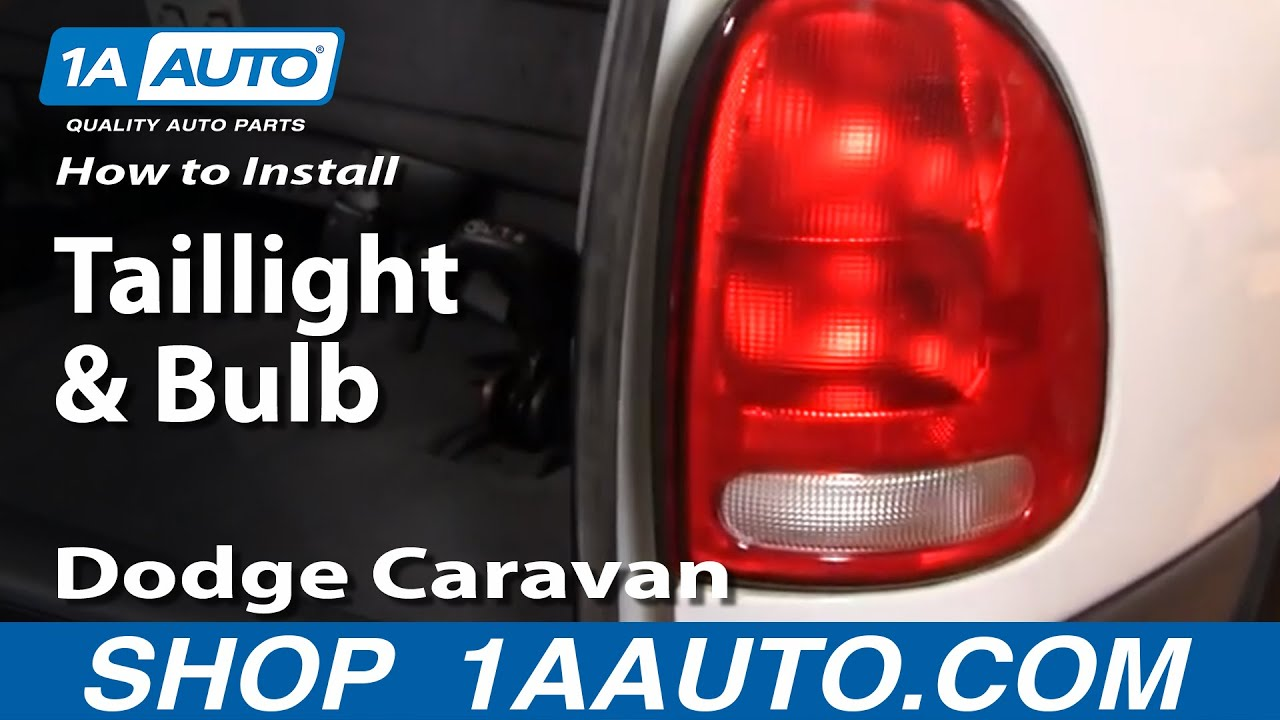 How To Replace Tail Light 96 00 Dodge Caravan