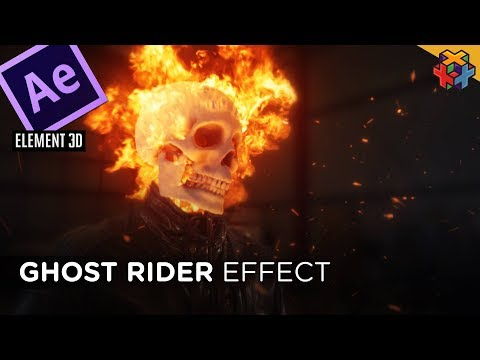 Ghost Rider 🔥💀FLAMING SKULL💀🔥 In After Effects