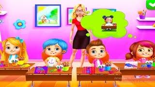 Видео для детей. Веселая школа 🦄 Игры для девочек 👧Школа РИСОВАНИЕ.РАСКРАСКИ.Мультфильмы для детей