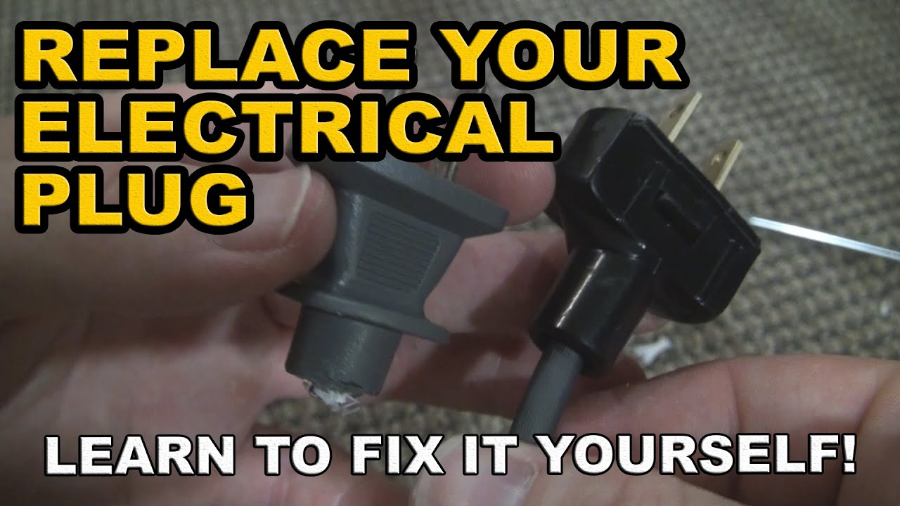 how to replace or repair an electrical plug end fixed my vacuum rh youtube com wiring a plug and light wiring a plug and light switch in same box