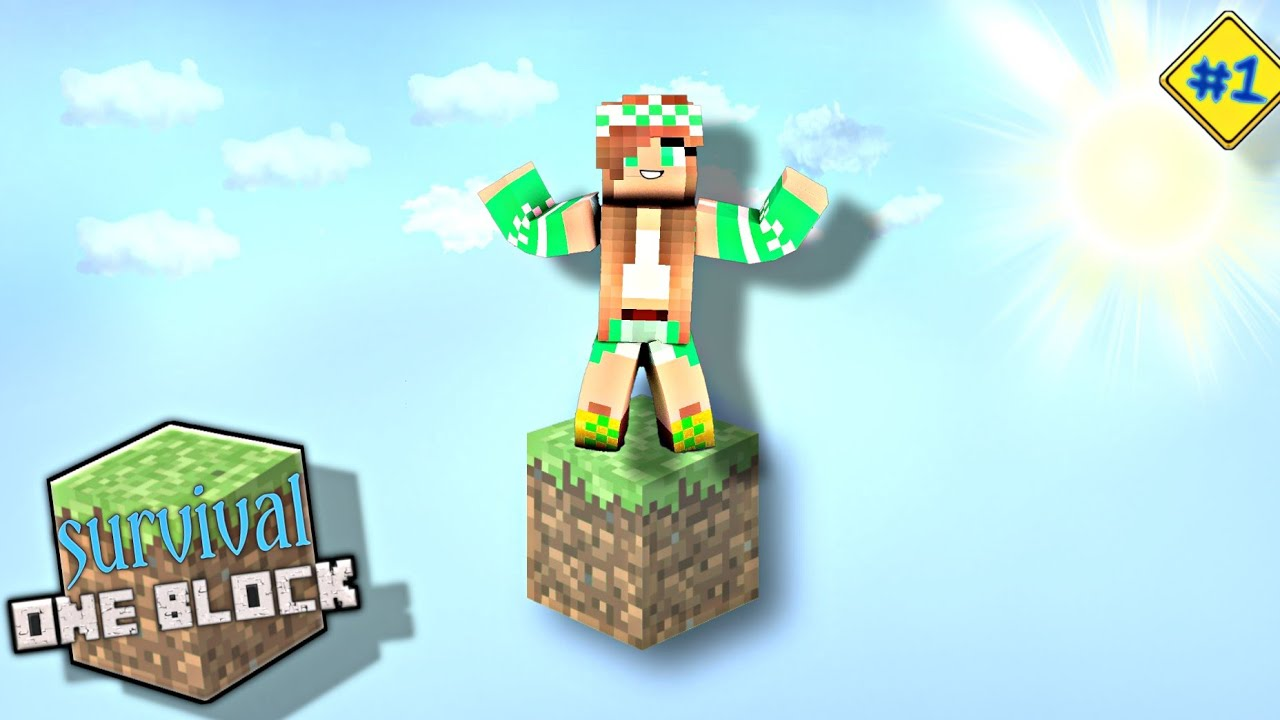 Minecraft Survival MAIN HANYA DENGAN SATU BLOCK - YouTube
