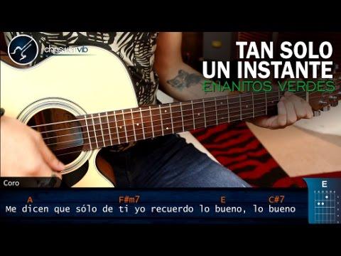 Como tocar Tan Solo Un Instante ENANITOS VERDES en Guitarra | Tutorial Christianvib