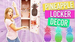 Back To School DIY PINEAPPLE Locker Decor | How To DIY Organization Ideas Kids Crafts