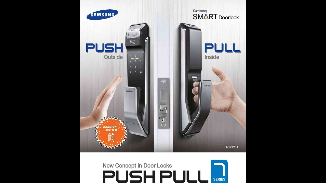 Samsung Door Locks SHS-P718 Exclusive to Overseas agent