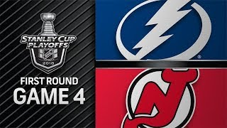 NHL 18 PS4. 2018 STANLEY CUP PLAYOFFS FIRST ROUND GAME 4 EAST: LIGHTNING VS DEVILS. 04.18.2018 !