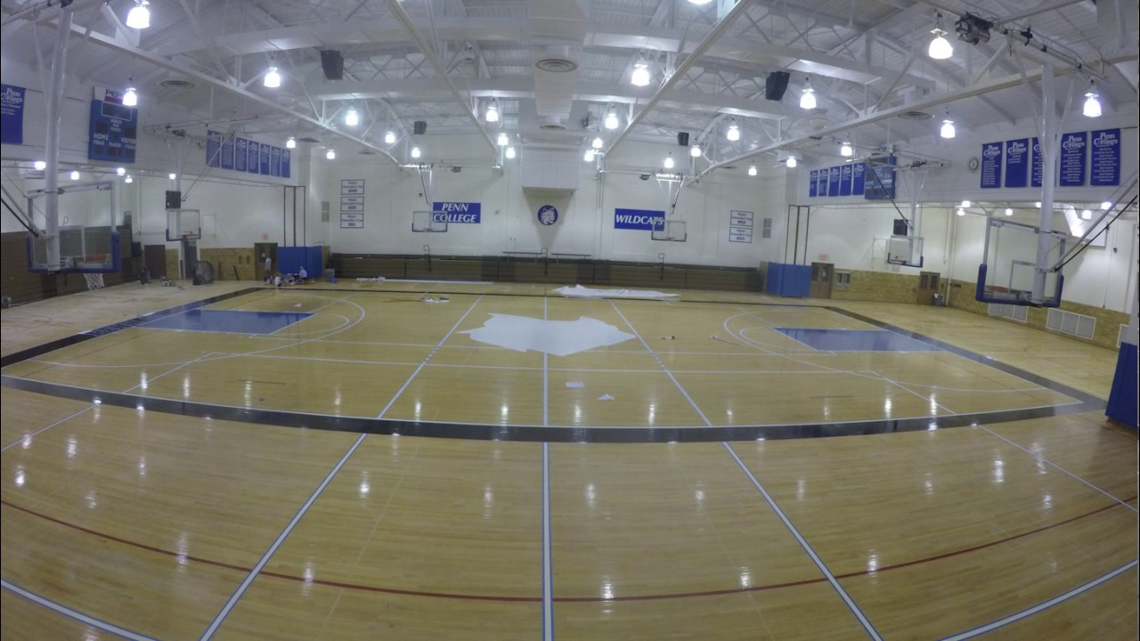 Bardo gym gets a new cat youtube for Basketball gym designs and layout