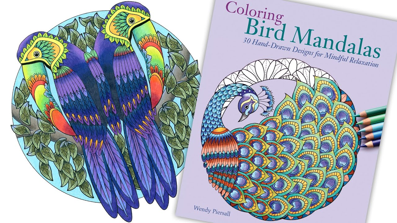 Preview Of Coloring Bird Mandalas Adult Book