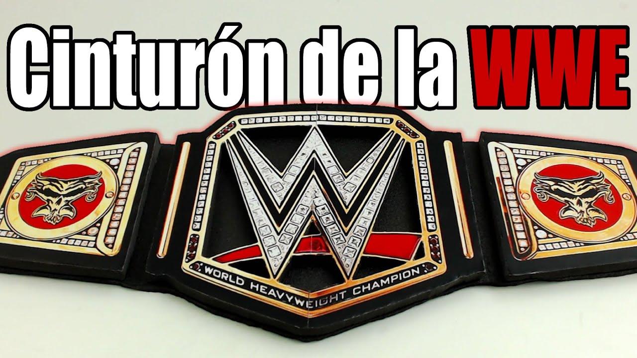 Cinturón de la WWE, cómo se hace - YouTube