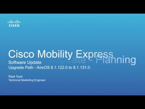 Cisco Mobility Express - Software Update