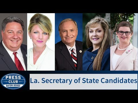 La. Secretary of State Candidates | 10/08/18 | Press Club