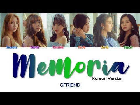 GFRIEND 여자친구 ' Memoria (KOREAN VER.) ' Lyrics (ColoCoded/ENG/HAN/ROM)