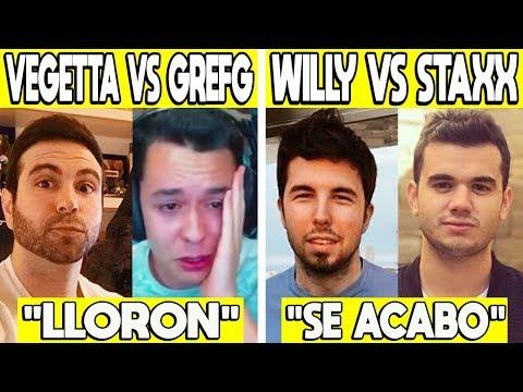 5 PELEAS MAS GRANDES ENTRE YOUTUBERS | WILLYREX Y STAXX PELEA, VEGETTA777 VS GREFG Y MAS!