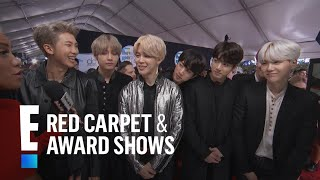 BTS Talks Emojis and More at the 2017 AMAs | E! Red Carpet & Award Shows