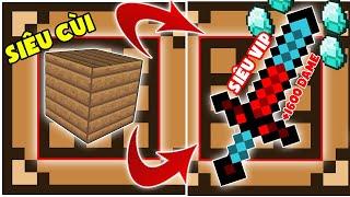 Minecraft Đảo Lộn #3 : Gỗ Chế Tạo Ra Kiếm Vip ??