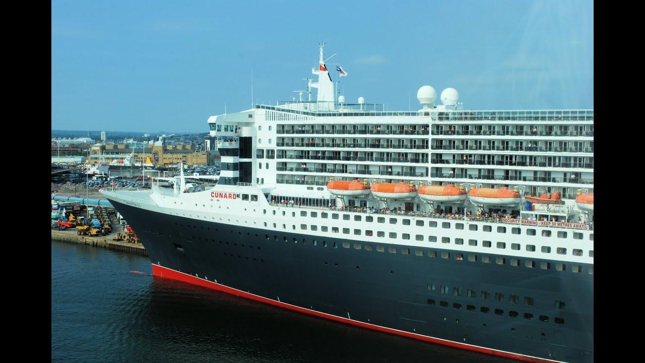 Cunard queen mary 2 ship southampton youtube for Garderobe queen mary 2