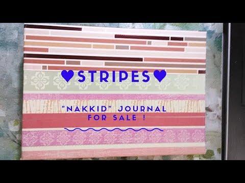 """STRIPES (""""Nakkid"""") DIY Junk Journal (SOLD)"""