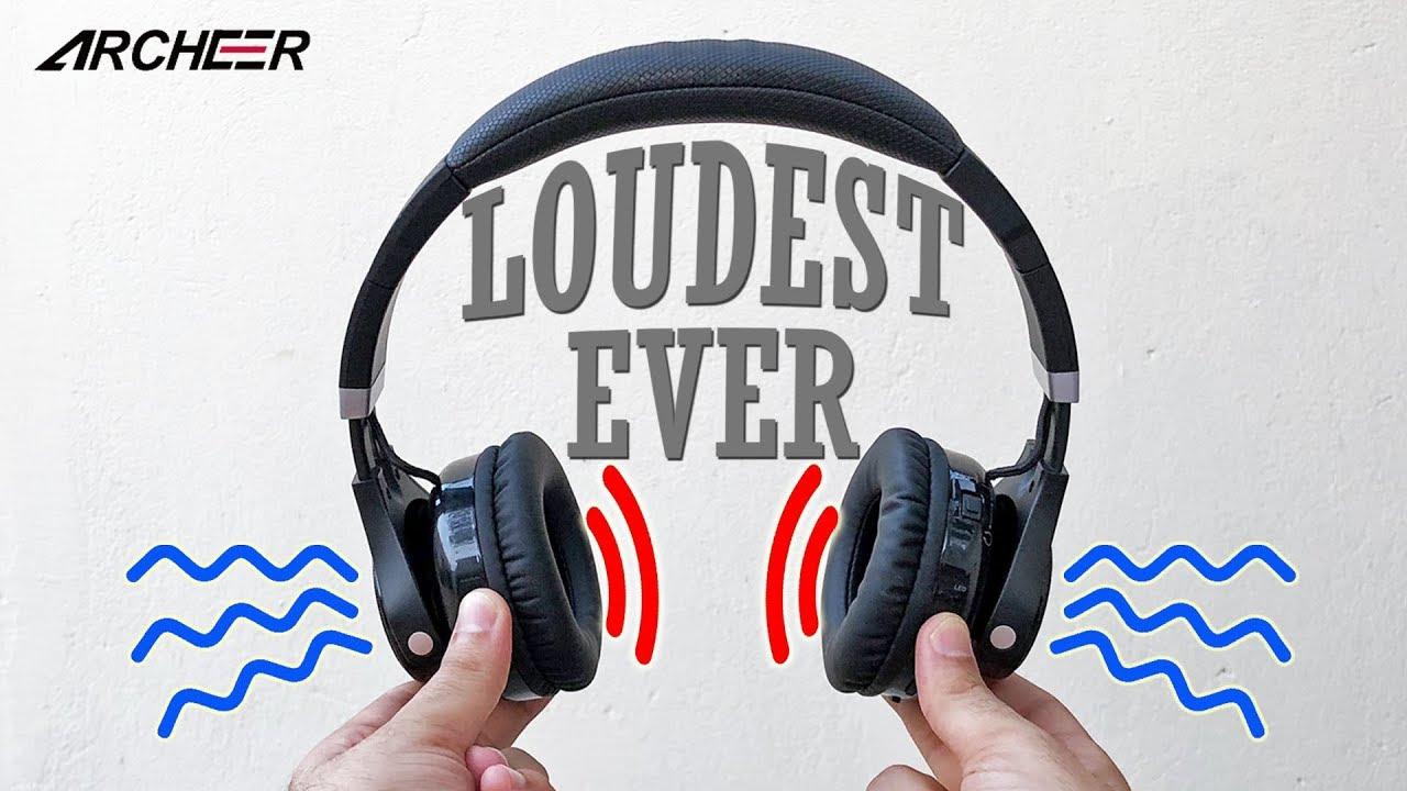 The Loudest Headphones You Ve Ever Heard Archeer Ah45 2 In 1 Headphones Youtube